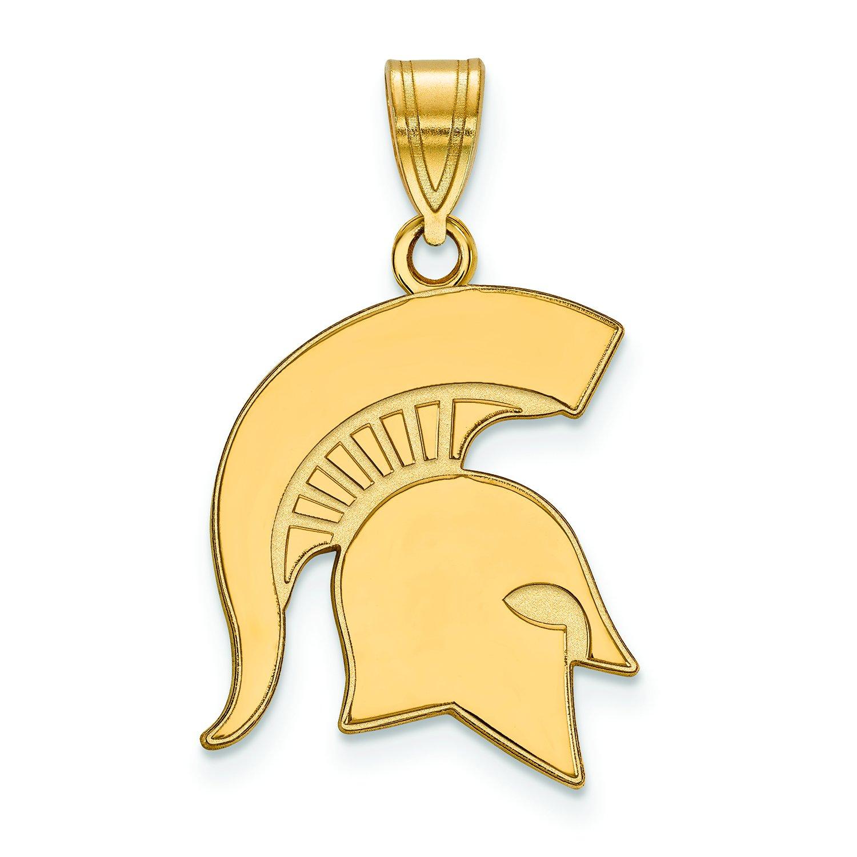 Michigan State Spartans大きなロゴペンダント  Yellow-gold-plated-silver B01IYETI5G