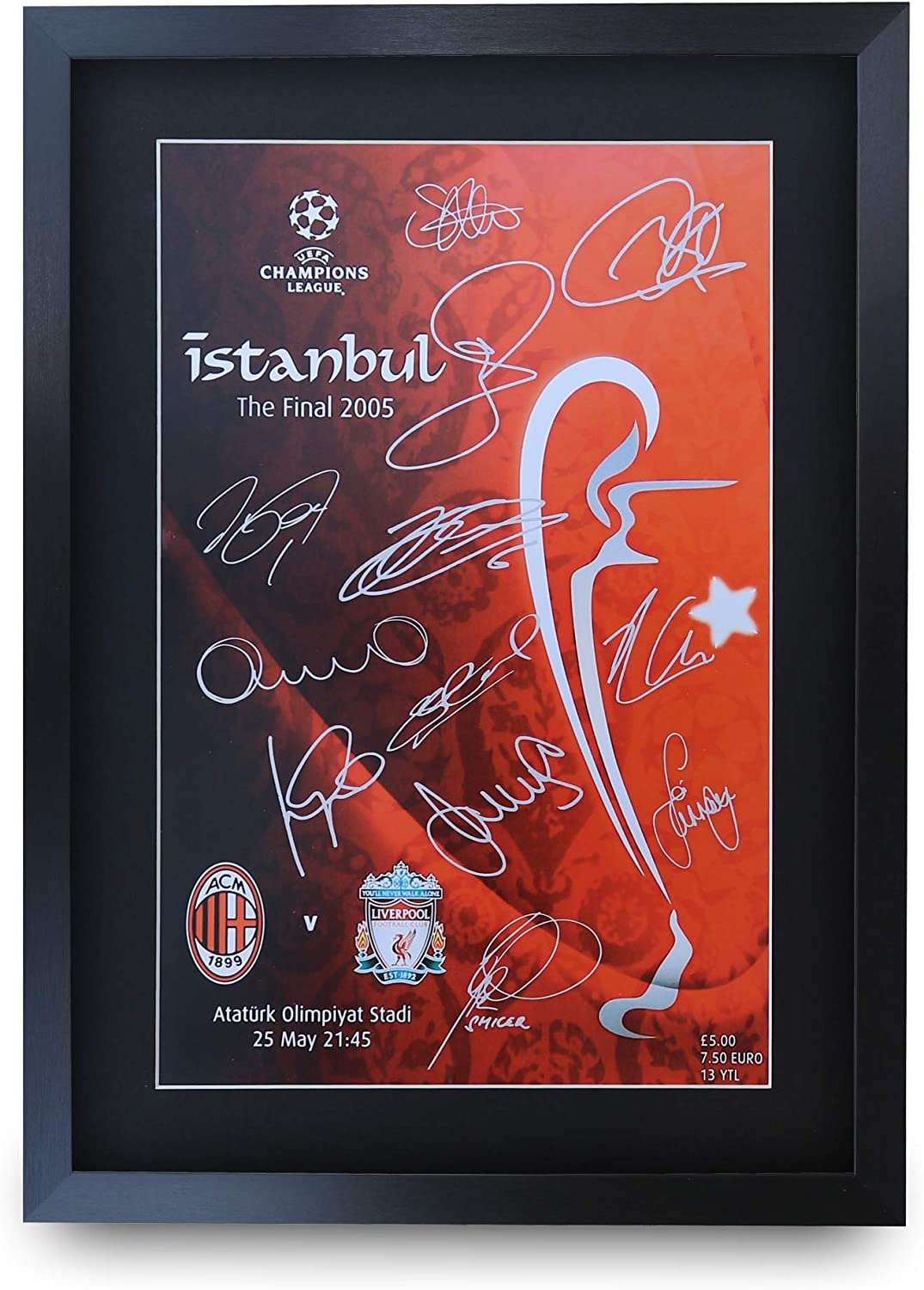 2005 Champions League Final Poster of Programme