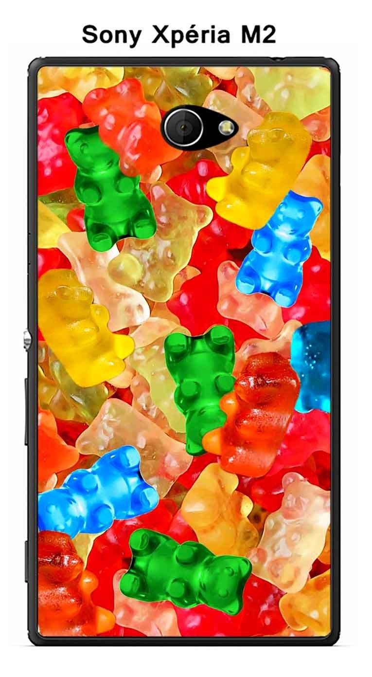 Onozo Nounours - Carcasa Sony Xperia M2 diseño Caramelos ...
