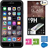 iPhone 7 Screen Protector [Set of 2] – Ballistic Tempered Glass – Maximum Impact Protection - 99.99% Crystal Clear HD Glass - No Bubbles – Cell Phone DIY® Protectors Kit for Apple iPhone 7