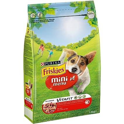 Purina Friskies Vitafit Mini Menu Pienso para Perro Adulto Buey 1,5 Kg