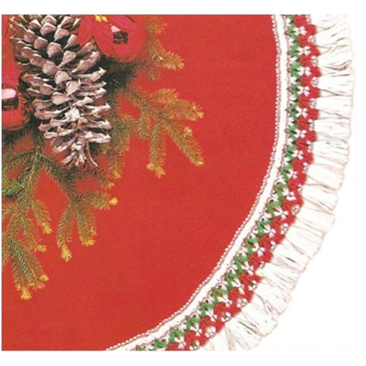 Rubie's Costume Co 56'' Red Plush Tree Skirt Costume