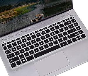 Keyboard Cover for 2019 HP Pavilion x360 14 inch Laptop 14M-DH1001DX DH0003DX/HP Pavilion x360 Keyboard Cover 14M-BA 14M-BF 14M-CD 14-BF 14-BW 14-cm 14-CF Series 14 inch HP Laptop Skin, Black