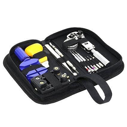 Juego profesional de herramientas para reparación de relojes, portátil, con destornillador antimagnético, perfecto para relojeros