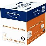Hammermill Paper, Premium Inkjet & Laser Multipurpose Paper, 8.5 x 11 Paper, Letter Size, 24lb Paper, 97 Bright, 5 Reams / 2,500 Sheets (166140C) Acid Free Paper