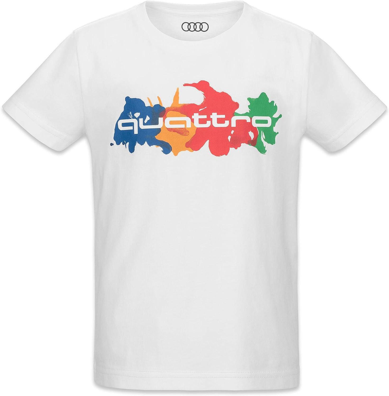 Audi Quattro Shirt Kinder Weiß 98 104 Auto