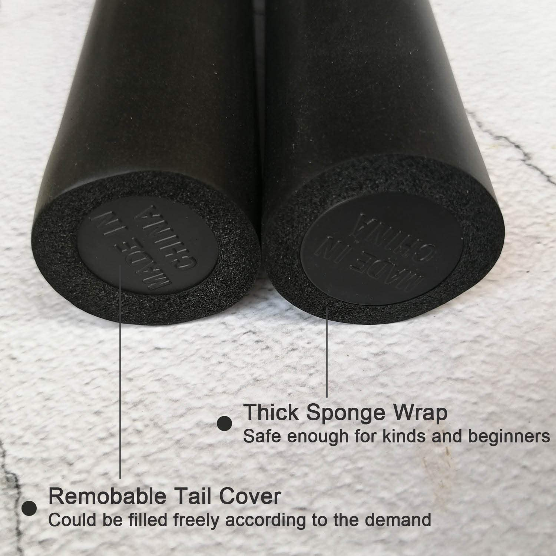 Beginners Durable Nunchucks Martial Arts Foam Metal Chain Safe Sponge Kungfu