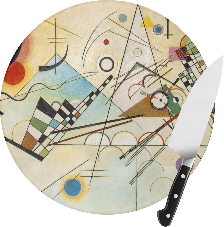 Kandinsky Composición 8 de cristal redondo tabla de cortar 12 ...