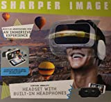 Sharper Image Virtual Reality Headset with Built-In Headphones,Black/White