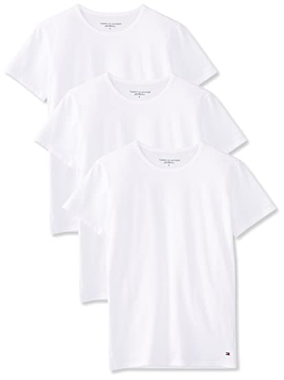 623fbb590a9c Tommy Hilfiger Men s Cn Tee Ss 3 Pack Premium Essentials T-Shirt