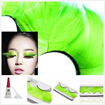 538db1821a6 Beauty II Girl Fancy Dress Dance Party Makeup Feather False Eyelashes Eye  Lashes Thick Extra Long