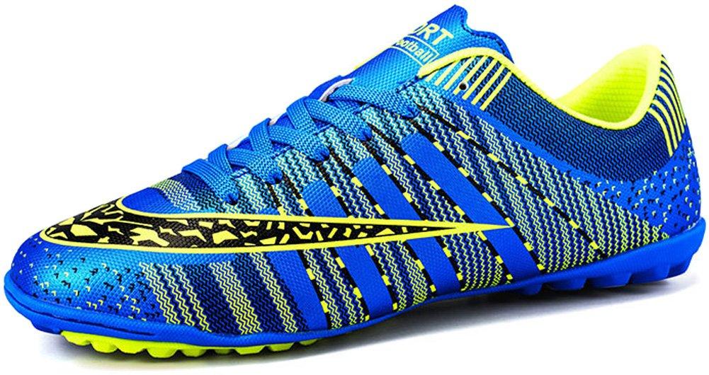 JIYE Men Soccer Shoes for Women Turf Shoe Indoor Cross Training, Blue,39 EU=6.5US-Men/8US-Women by JIYE