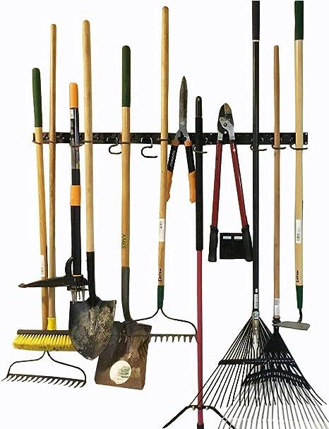 Sistema de almacenamiento ajustable 48 Inch, soportes de pared para herramientas, organizador de soporte de pared para herramientas, garaje, herramienta de jardín organizador, almacenamiento de garaje: Amazon.es: Hogar