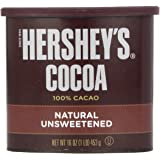 HERSHEY'S Natural Unsweetened 100% Cocoa, Baking/Beverage Gluten Free, 16 Ounce Can (Pack of 3)