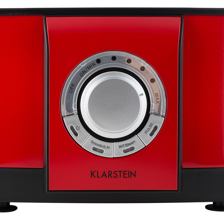 Klarstein Souprano batidora multifunción (800 W/1 PS, 1, 25 L, 3 Cuchillas, función Turbo, Incluye Prensa de cítricos, amasador, batidor, hervidor de Huevos ...