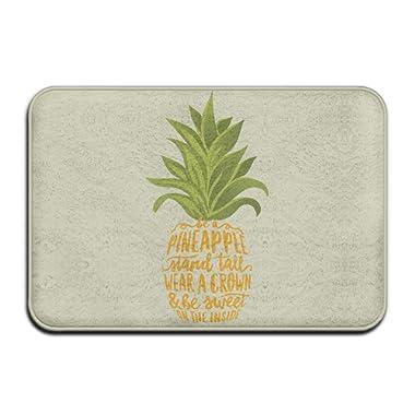 Be A Pineapple Tropical FruitDoormat Entrance Mat Floor Mat Rug Indoor/Outdoor/Front Door/Bathroom Mats Rubber Non Slip