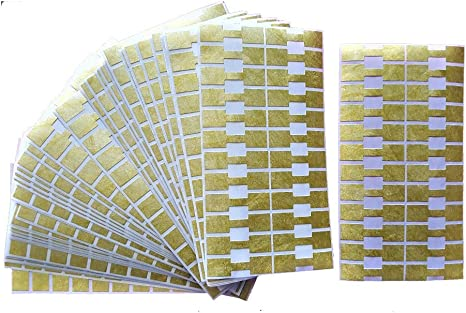 100 x GOLD DUMBELL SELF ADHESIVE PRICES TICKER LABELS FR JEWELLERY /& ACCESSORIES