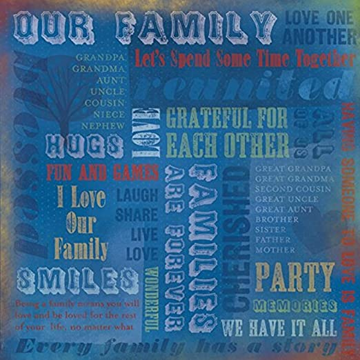 5 Sheets Our Family Brothers//Sisters Scrapbook Paper Reminisce