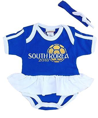 1e1b2b278ae Amazon.com  Pam GM South Korea Baby Girls Soccer Bodysuit World Cup 2018   Clothing