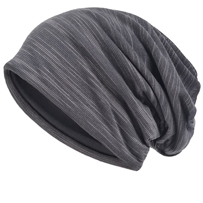 c25e9489739 Men Slouch Hollow Beanie Thin Summer Cap Skullcap (Grey)  Amazon.in   Clothing   Accessories
