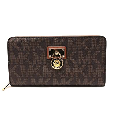 Michael Kors Hamilton Signature Continental Wallet in Brown