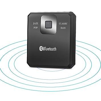 Smof Bluetooth 4.1-Empf/ä nger A2DP Mehrger/ä teanschluss Wireless Audio Adapter // Bluetooth-Freisprecheinrichtung Car Kit mit eingebauter Mic /& 3, 5 mm AUX-Anschluss f/ü r Heim-Stereo-Sound-System BT08