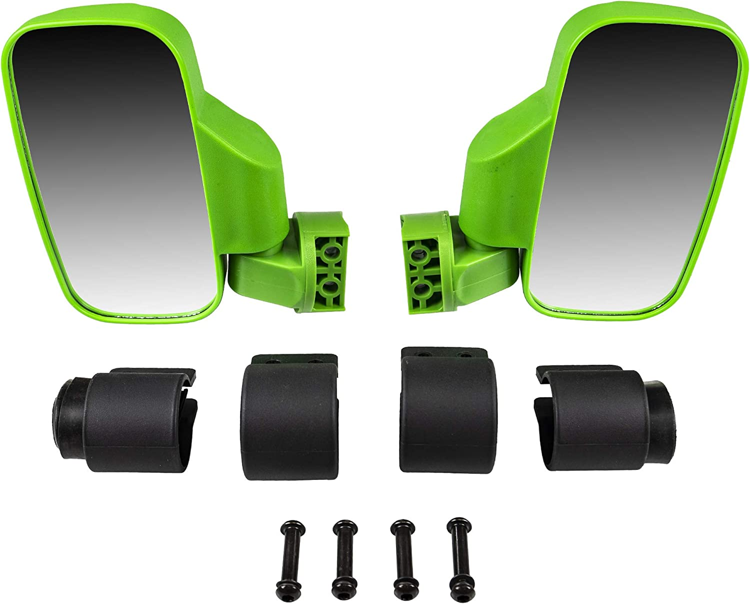 NICHE Yellow Offroad Break-Away Side View Mirror Set for UTV Side x Side Utility Vehicle with Pro-Fit Roll Cage Bar