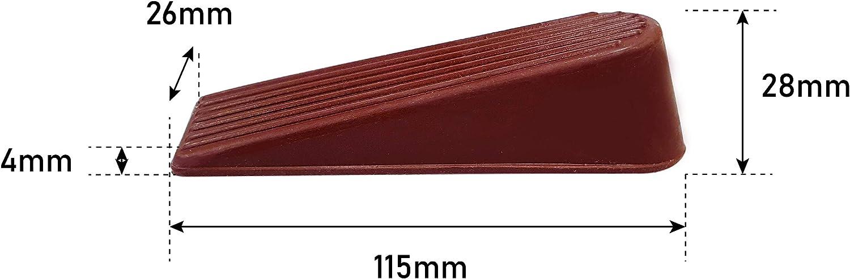 Pack of 2 Select Hardware Door Stop Anti-Slip Rubber Wedge Brown Rubber