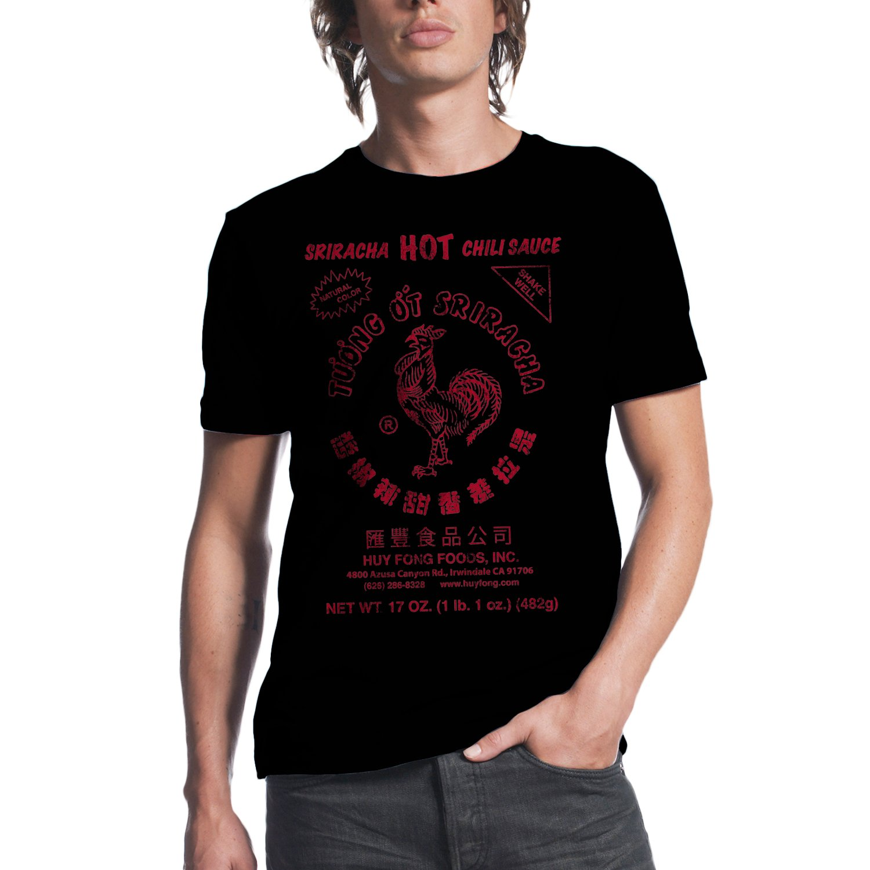 Black t shirt xl - Sriracha Hot Chili Sauce Mens Black T Shirt Xl Wollerprecisionmachine Com