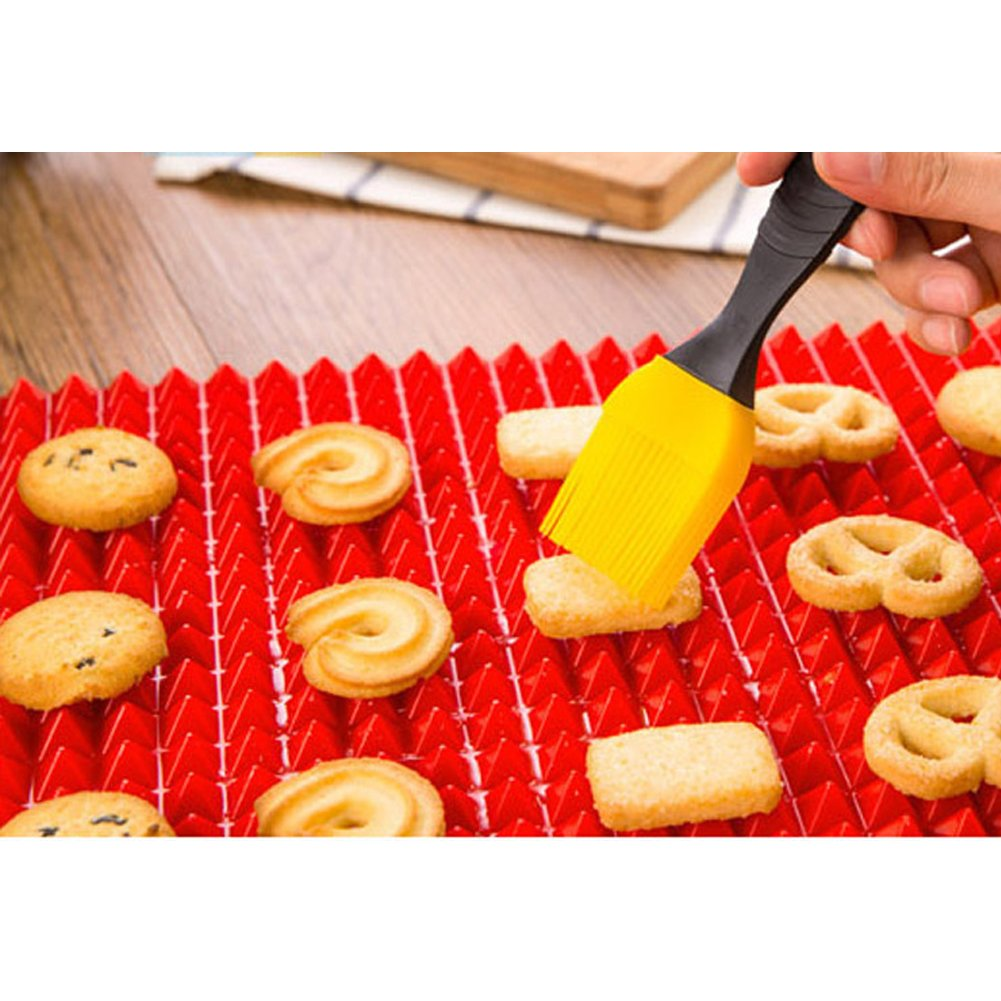 Homieco/™ Non-Stick Silicone Baking Mat BBQ Mat Healthy Cooking Pan Barbeque Tools Pizza Cooking Mats