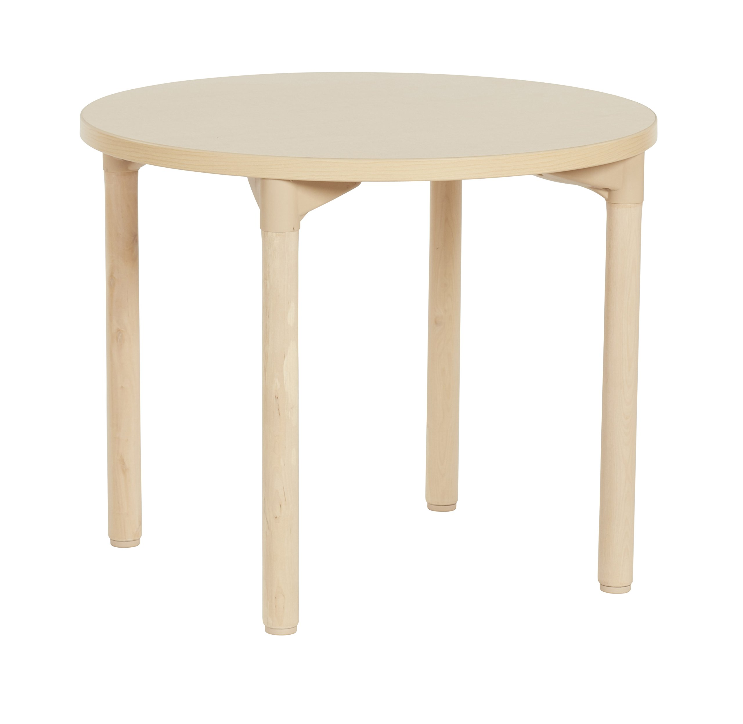ECR4Kids 30'' Round Maple All-Purpose School Activity Table with Thermo-Fused Edge and Wood Legs (18'' Leg Height)