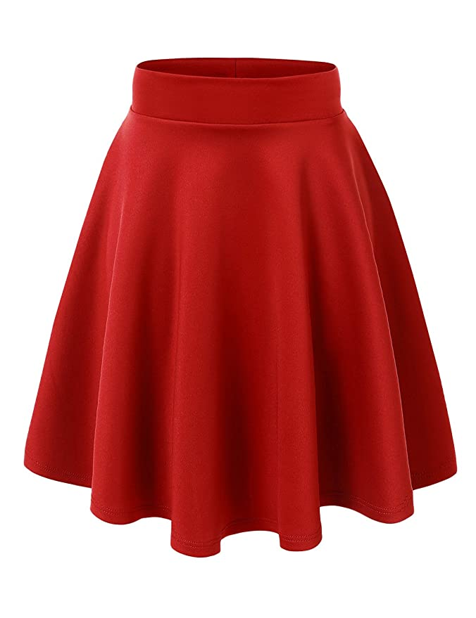 BEST SELLER MADE IN USA SUPER VERSATILE FLARE SKIRT (OVER 40+ COLOR OPTIONS)