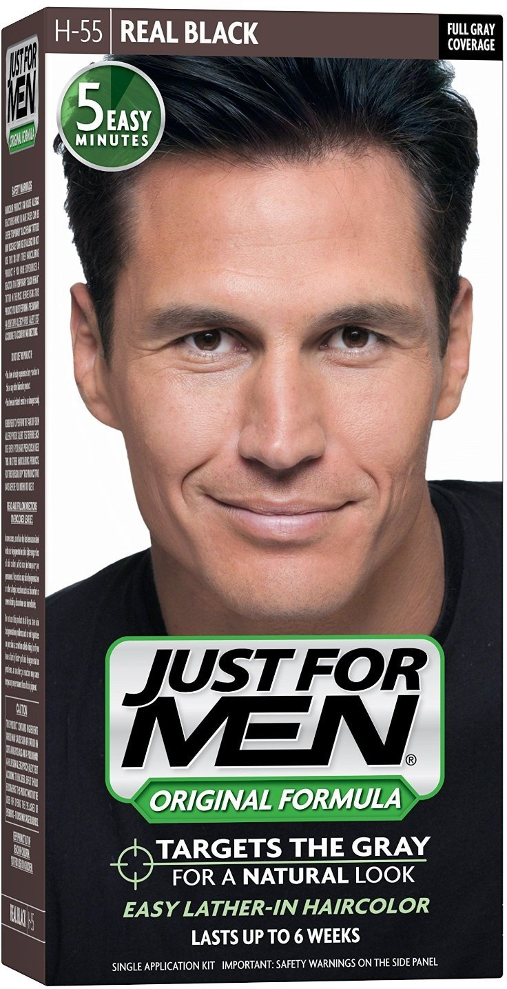 JUST FOR MEN Hair Color H-55 Real Black 1 Each (Pack of 9)