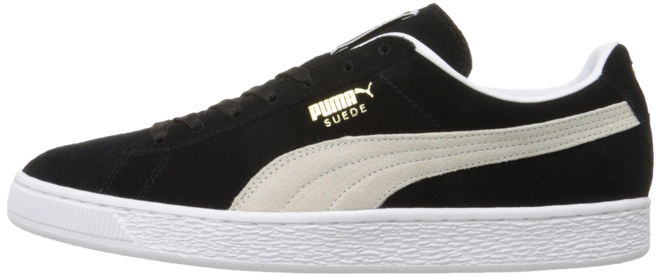 PUMA Suede Classic Sneaker,Black/White,9.5 M US Men's by PUMA (Image #13)