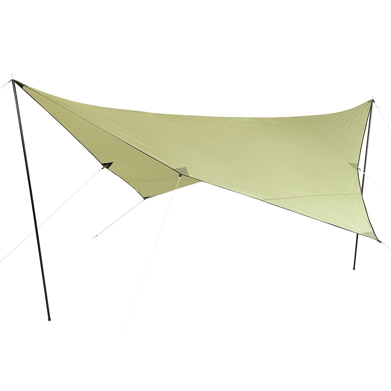 10T Beechnut Tarp 4x4 Sonnensegel mit UV50+ Sonnenschutz Camping Sonnendach Outdoor Markise mit Aufstellstangen Abspannleinen Heringe, wasserdicht mit 2000mm Wassersäule