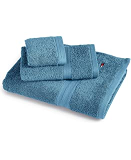 Tommy Hilfigher Swedish Blue All American II Cotton Solid Bath Towel (27