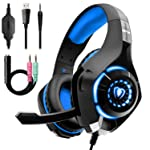 Beexcellent Gaming Headset for PS4 Xbox One, Over-Ear Gaming Headphones with Noise Reduction Mic Volume Control LED Light...