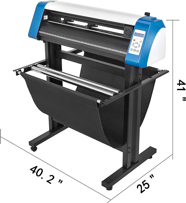 VEVOR cortador de vinilo de 14 pulgadas, máquina cortadora de vinilo de 375 mm, máquina cortadora de vinilo para impresora con tira de luces LED y cortador de trazador de vinilo con