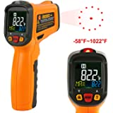 Infrared thermometer Janisa PM6530B Laser Temperature Gun Digital Non Contact Kitchen Thermometer Color Display -58°F~1022°F With 12 Point Aperture Temperature Alarm Function