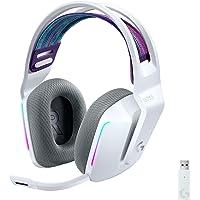 Logitech G733 Lightspeed Wireless Gaming Headset with Suspension Headband, LIGHTSYNC RGB, Blue VO!CE mic Technology and…