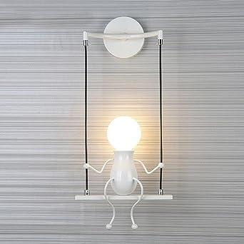 Modern Kreativ Wandlampe Zwei Eisen Figuren Entwurf Hängelampe Nachtlicht  Wandleuchten,Wohnzimmer Kinder Schlafzimmer Bedside Badezimmer
