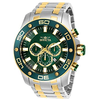 Invicta Pro Diver Chronograph Green Dial Mens Watch 26083