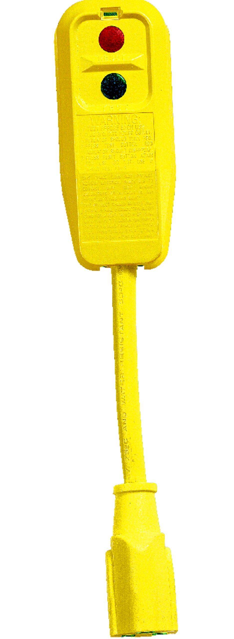Lind Equipment 14880-4001 GFCI plug and cord set, 120V/15A, 9'' 14/3 cable