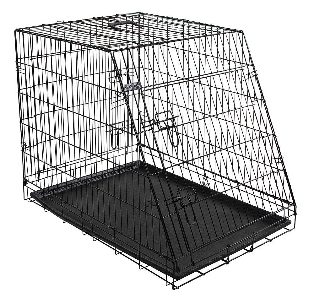 76 x 54 x 64 cm Kerbl Slant anteriore Cane gabbia pieghevole 2 Porte nero