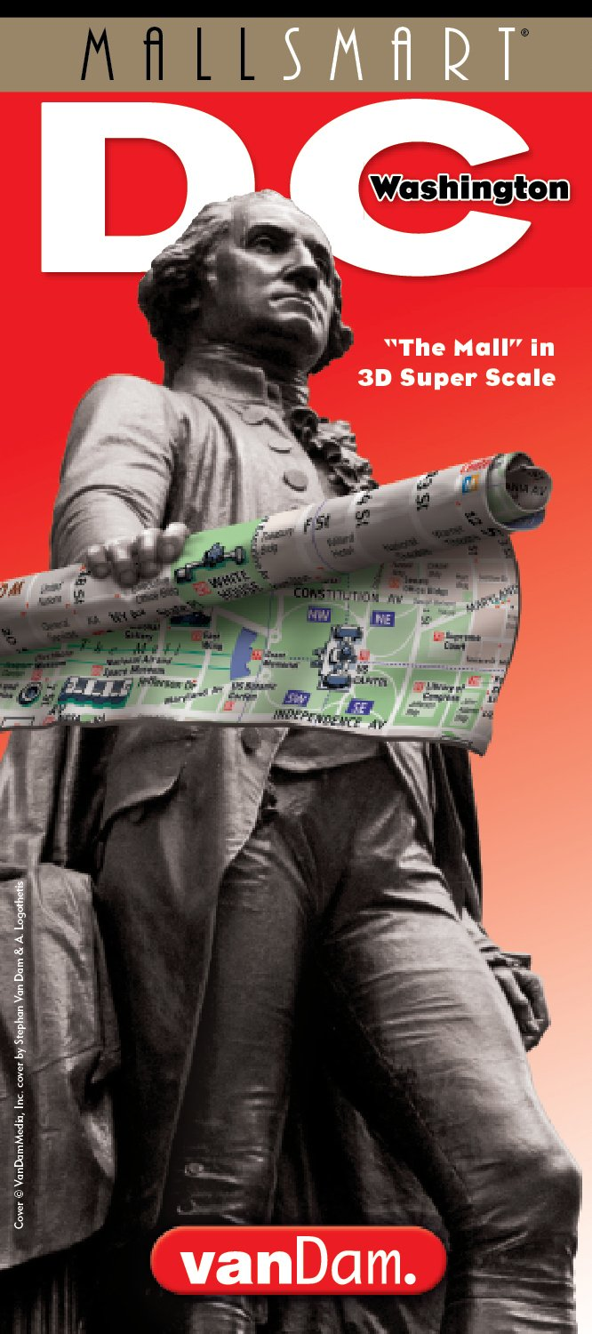 StreetSmart Washington DC Map by VanDam - Laminated pocket City Street Map of Washington DC with special National Mall detail and travel guide with ... sights, hotels and Metro map, 2018 Edition