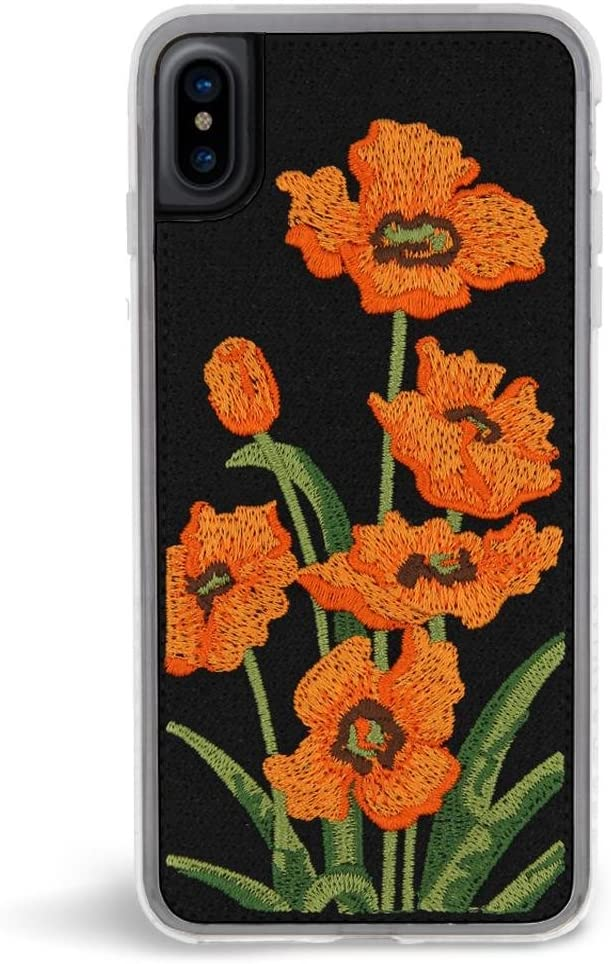 Zero Gravity Compatible with iPhone 7 Plus/8 Plus Valley Phone Case - Embroidered Floral Design - 360° Protection, Drop Test Approved
