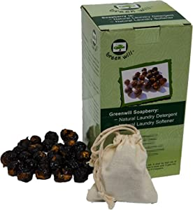 1.5 Pounds Greenwill Organic Soapberry/Soap Nut with Wash Bag