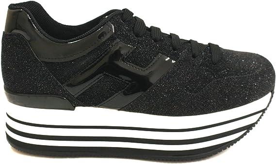 HOGAN Sneakers Maxi H222 Donna in Glitter e Vernice Mod ...