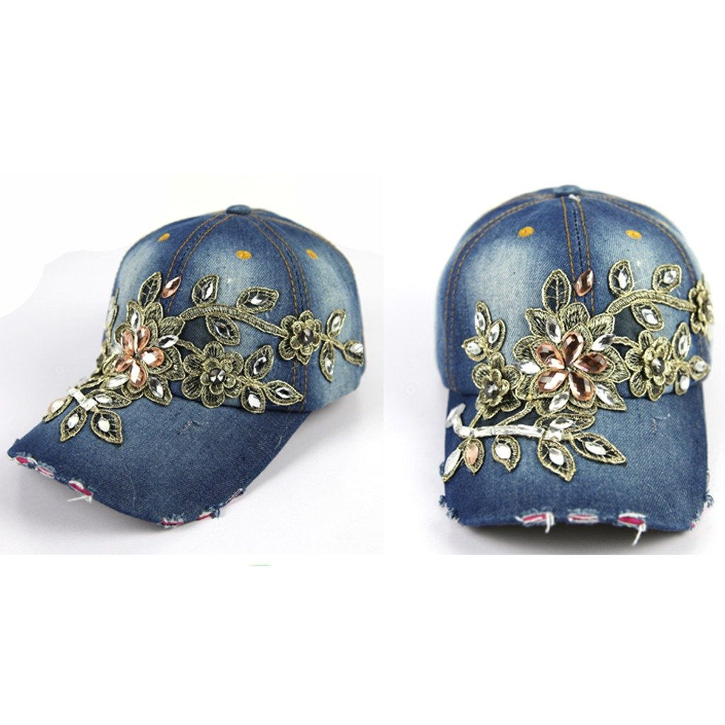 ECYC Brand Rhinestone Studded Diamond hat Cowboy cap Tidal Lady hat Spring Summer style Peaked Casual hat