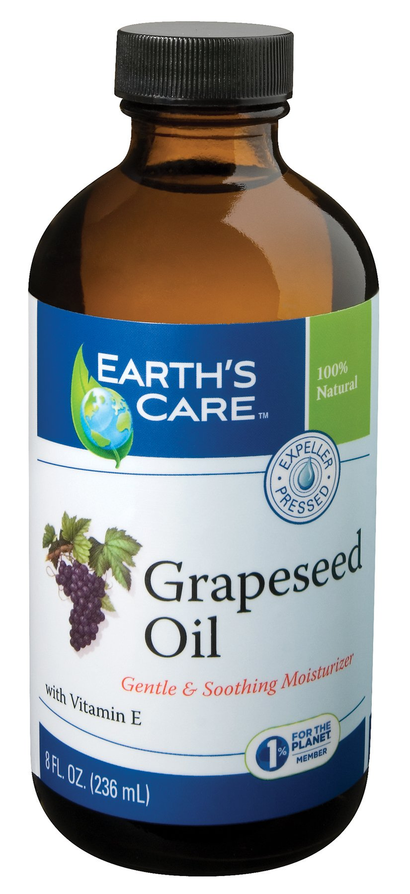 Earth's Care Grapeseed Oil, Hexane-Free, No Parabens, Fragrances or Artificial Colors 8 FL. OZ. (12 Bottles)